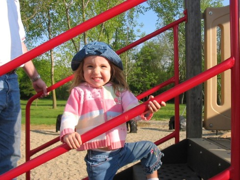 Ella on slide2003