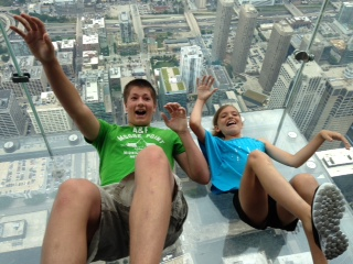 T and Elle Sears Tower Skydeck